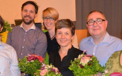Der neu gewählte Vorstand der Grünen in München