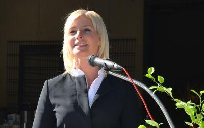 Umweltministerin Ulrike Scharf zu Besuch beim Wertstoffhof München-Langwied