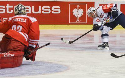 Spielszene EHC Red Bull vs. Klagenfurt.