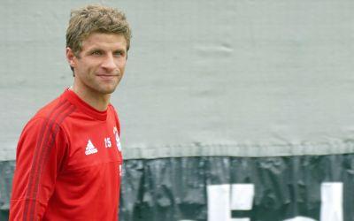 Thomas Müller im Training des FC Bayern