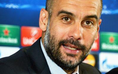 Pep Guardiola auf Pressekonferenz
