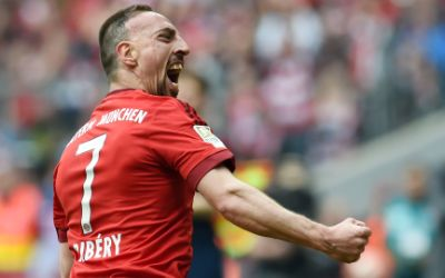Franck Ribéry beim Torjubel