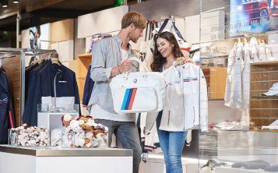 Der Shop in der BMW Welt