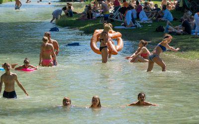 Eisbach im Sommer