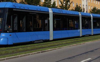 Trambahn in München.