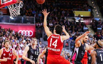Szene aus einem Spiel des FC Bayern Basketball