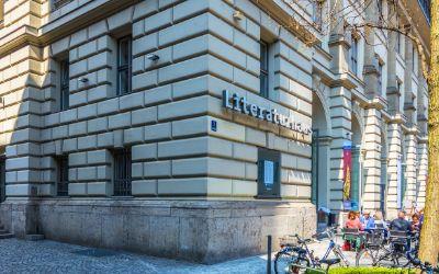 Das Literaturhaus München im Frühling