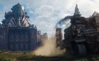"Szene aus dem Film ""Mortal Engines"""