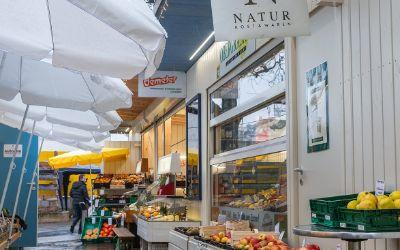 Gesunde Lebensmittel auf dem Elisabethmarkt