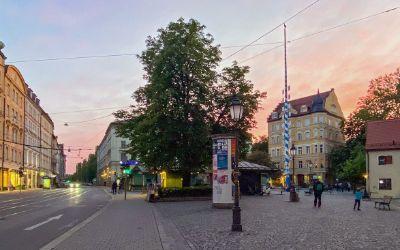 Der Wiener Platz mit dem historischen Markt in Haidhausen