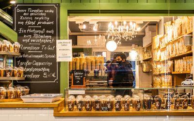 Die Kaffeerösterei Viktualienmarkt: Kaffee und Florentiner