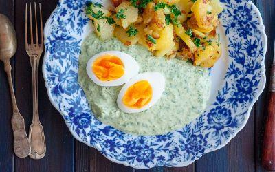 Eier in Grüner Sauce zu Ostern