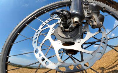 Detail eines Mountainbikes