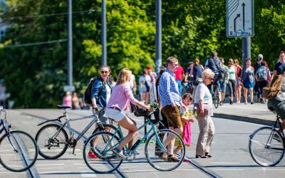 Fahrradfahrer in München