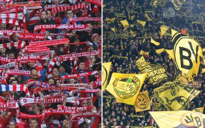 Fans FC Bayern und Borussia Dortmund