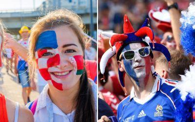 Kroatische und französische Fans