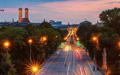 Aussicht vom Maximilianeum am Abend