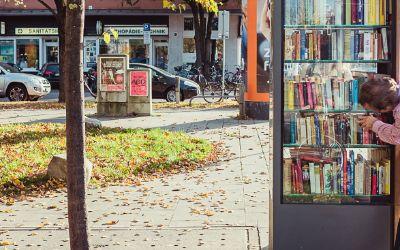Bücherschrank am Nordbad