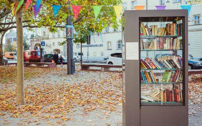 Bücherschrank am Stiglmaierplatz