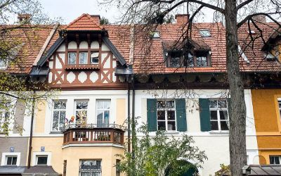 Häuserfassaden in Neuhausen, München.