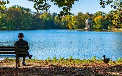 Schlosspark Nymphenburg mit See