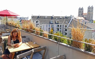 Aussicht von der Flushing-Meadows-Dachterrasse