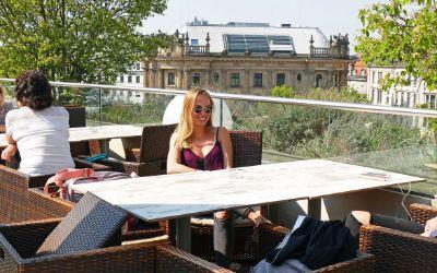 Aussicht von der Oberpollinger-Dachterrasse