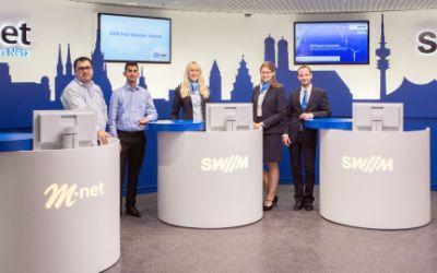 Der neue SWM und M-net Shop am Marienplatz.