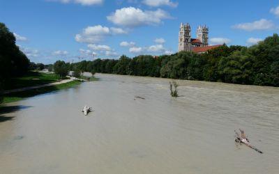 Isar Hochwasser August 2014