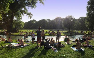 Heißes Sommerwochenende in München