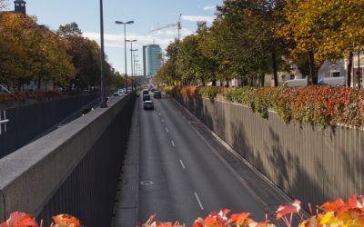 Landshuter Allee Richtung Donnersberger Brücke