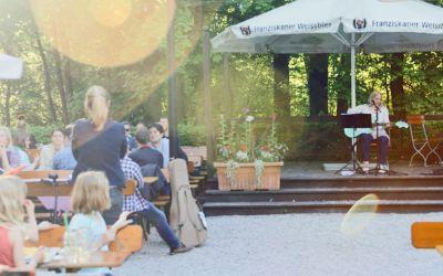 Isarlauschen im Biergarten Zum Flaucher
