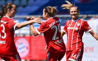 Spielszene der FC Bayern Frauen