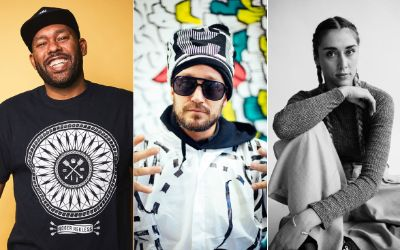Die fünf Mentoren der Stadtmucke 2019: Well, Rekless, Hopf, Bürkle, Spieler