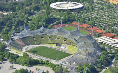 Das Olympiastadion von oben