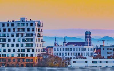 München im Herbst - Aussicht vom Olympiapark