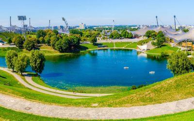 Der Olympiasee in München