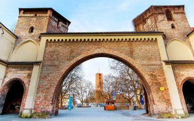 Das Sendlinger Tor im Winter ohne Schnee