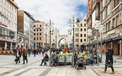 Die Fußgängerzone in München