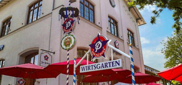 """Fassade von """"Der Pschorr"""" am Viktualienmarkt"""