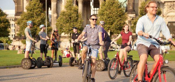 Stadtrundfahrt auf Segway und Fahrrad