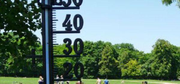 Thermometer im Englischen Garten