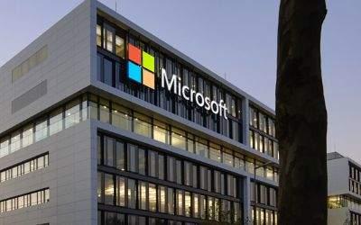 Außenansicht der neuen Microsoft-Zentrale in der Parkstadt Schwabing