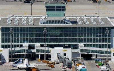 Das Satelliten-Terminal am Münchner Flughafen.