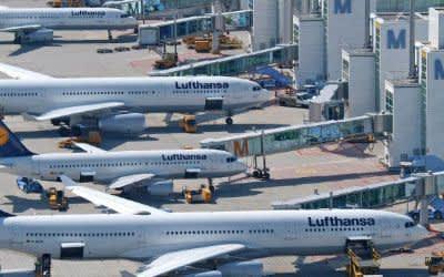Flugzeuge der Lufthansa.