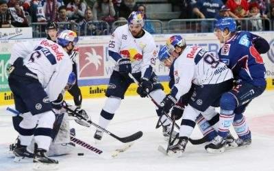 Deutsche Eishockey Liga: Adler Mannheim vs EHC Red Bull München am 4.12.2016