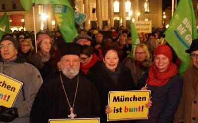 """Teilnehmer der Demonstration """"Wir sind alle von wo"""""""