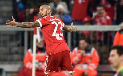 Vidal jubelt über seinen Treffer zum 1:0.