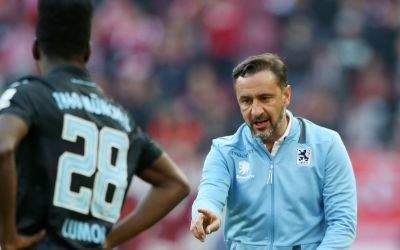 1860-Coach Vitor Pereira gibt Lumor Anweisungen.