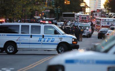 Nach dem Terrorakt in New York: Die Polizei sichert den Tatort